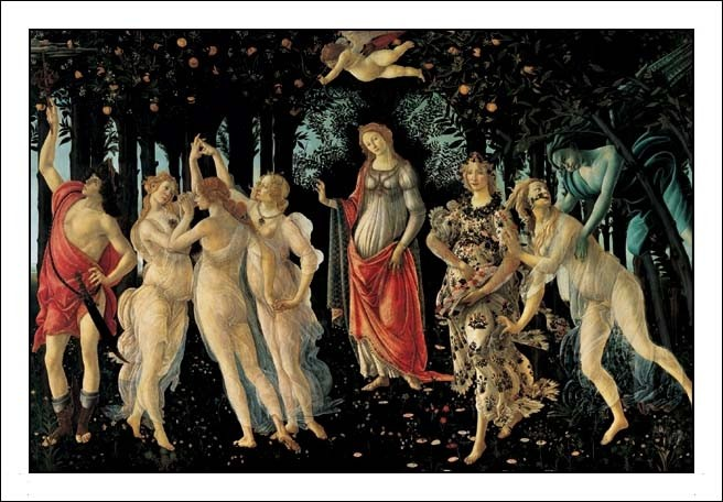 Reprodução do quadro Primavera - The Allegory of Spring
