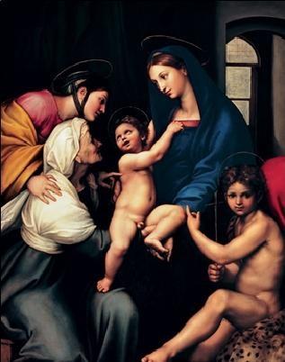 Reprodução do quadro Raffaello