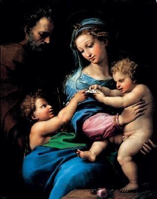 Reprodução do quadro Raphael Sanzio - Madonna of the Rose - Madonna della rosa, 1520