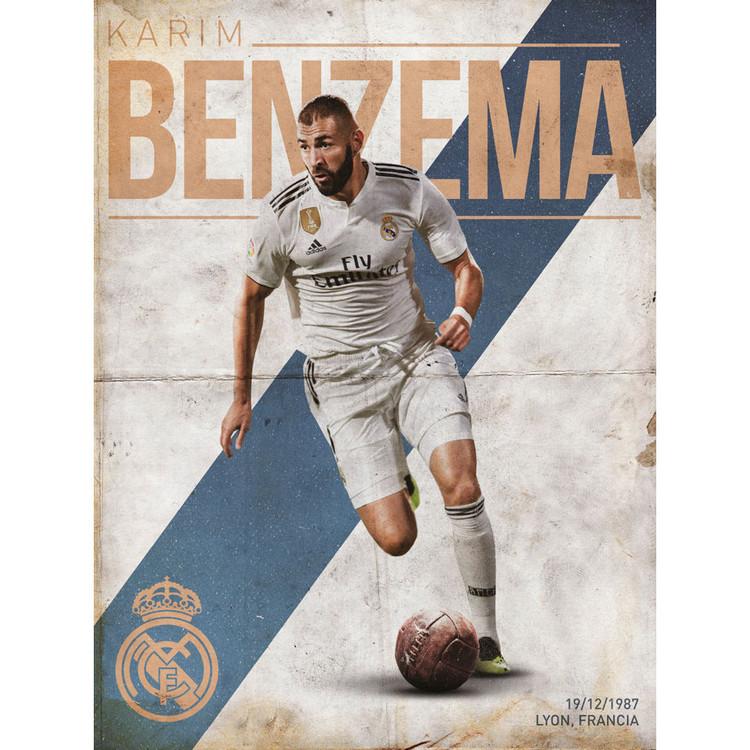 Reprodução do quadro  Real Madrid - Benzema