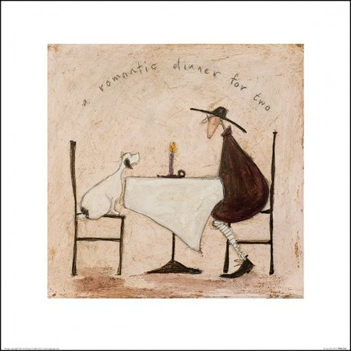 Reprodução do quadro Sam Toft - A Romantic Dinner For Two