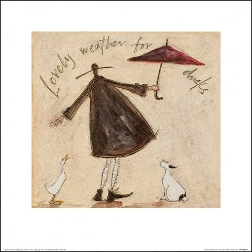 Reprodução do quadro  Sam Toft - Lovely Weather For Ducks