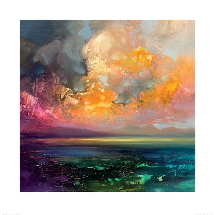 Reprodução do quadro  Scott Naismith - Isle of Jura Emerges