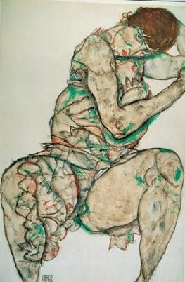 Reprodução do quadro Seated Woman with Her Left Hand in Her Hair, 1914