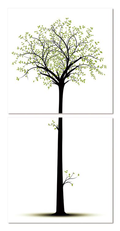 Quadro  Silhouette of a tree