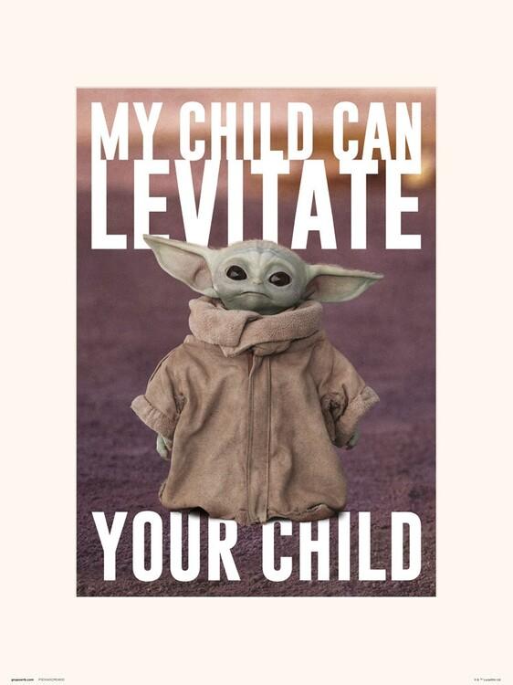 Reprodução do quadro Star Wars: The Mandalorian - The Child
