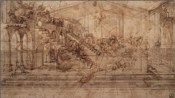 Reprodução do quadro Study of The Adoration of the Magi