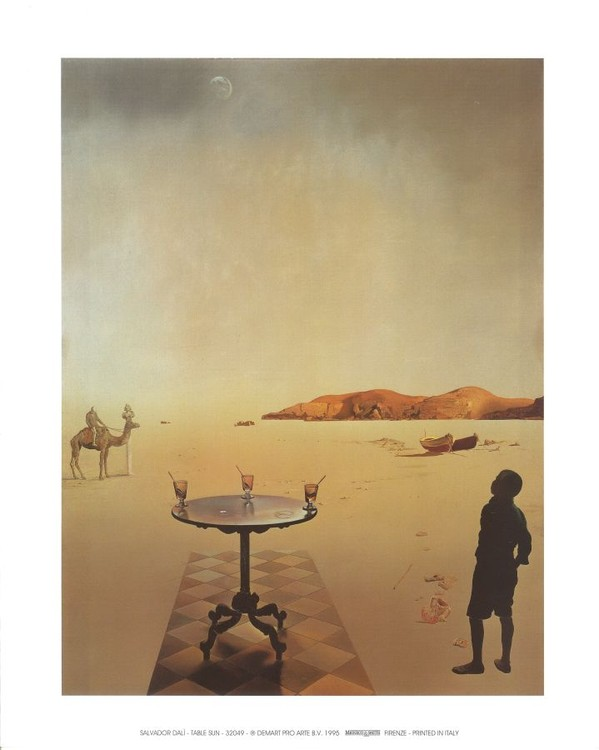 Reprodução do quadro Sun table, 1936