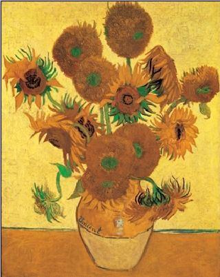 Reprodução do quadro Sunflowers, 1888