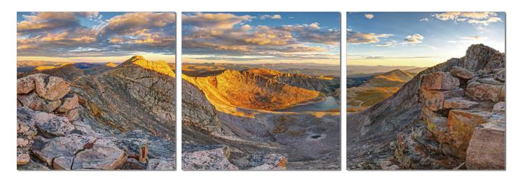 Quadro  Sunrise over mountains