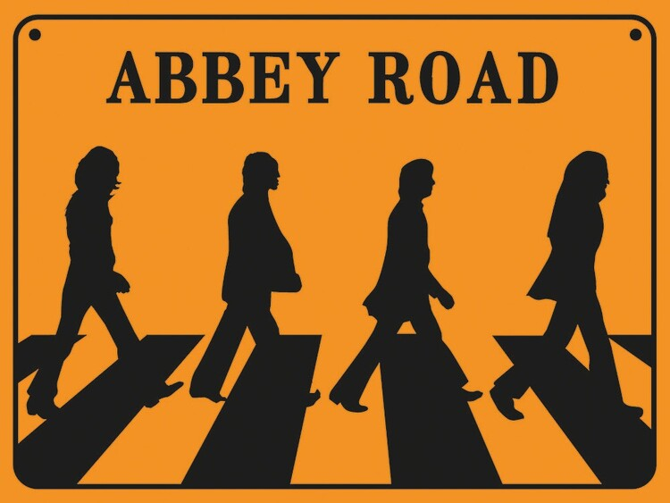 Reprodução do quadro The Beatles - Abbey Road