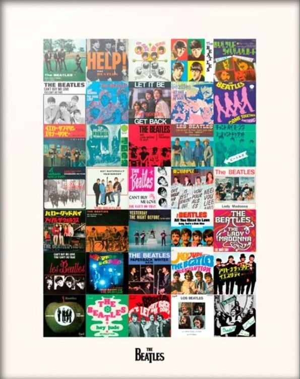 Reprodução do quadro The Beatles - Singles