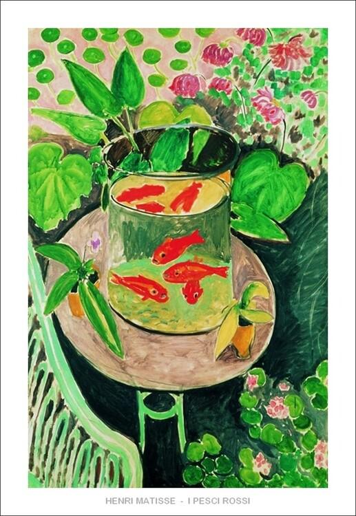 Reprodução do quadro The Goldfish, 1912
