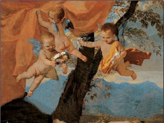 Reprodução do quadro The Holy Family (part)