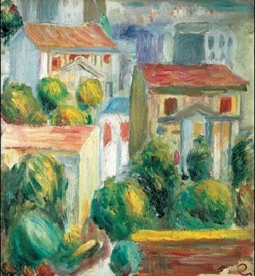Reprodução do quadro The House in Cagnes