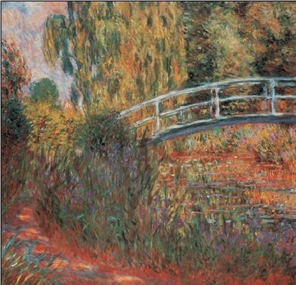 Reprodução do quadro The Japanese Bridge - The Japanese Footbridge, 1899