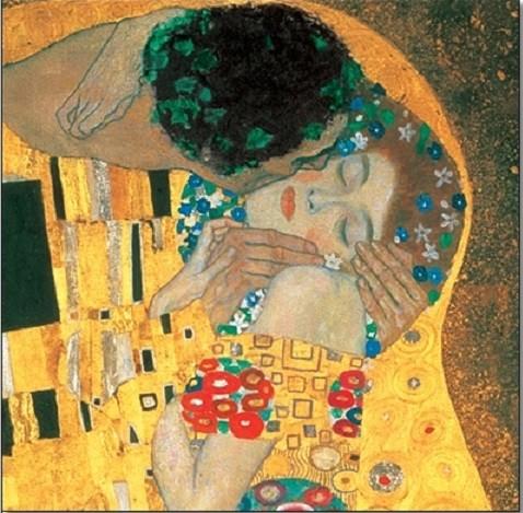 Reprodução do quadro  The Kiss (part)