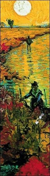 Reprodução do quadro The Red Vineyards near Arles, 1888