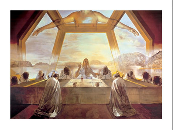 Reprodução do quadro The Sacrament of the Last Supper, 1955