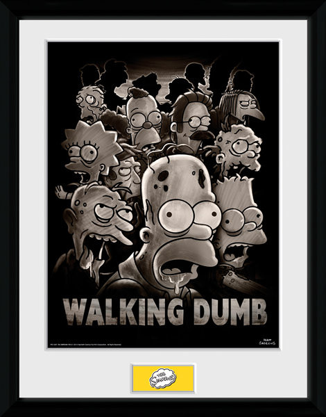 The Simpsons - The Walking Dumb Poster Emoldurado