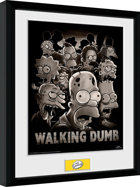 The Simpsons - The Walking Dumb Poster Emoldurado