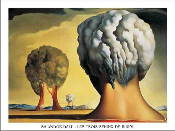 Reprodução do quadro Three Sphinxes Of Bikini, 1947