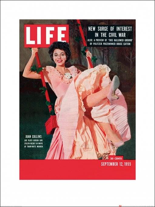 Reprodução do quadro Time Life - Life Cover - Joan Collins