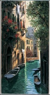 Reprodução do quadro Venetian reflections