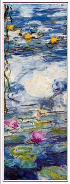 Reprodução do quadro  Water Lilies, 1916-1919 (part.)
