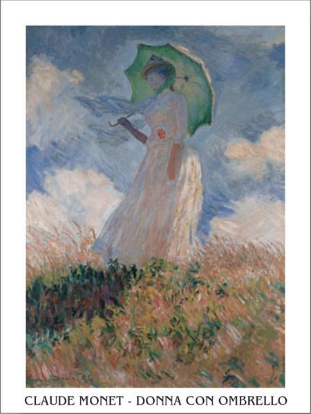 Reprodução do quadro  Woman with a Parasol