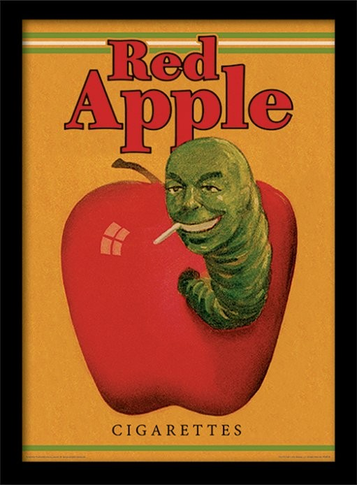 Poster Emoldurado PULP FICTION - red apple cigarettes