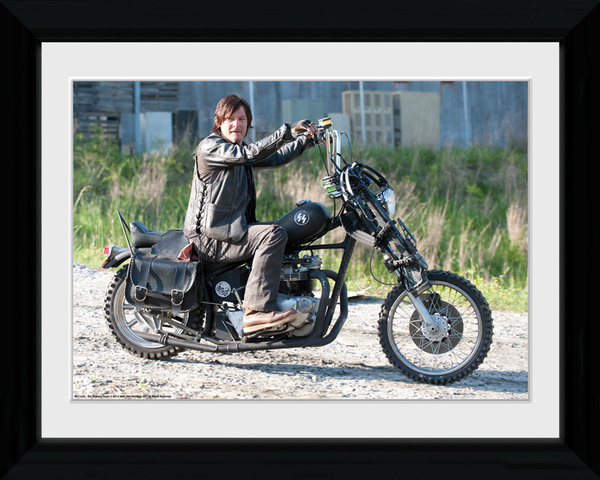 Poster Emoldurado THE WALKING DEAD - Daryl Bike