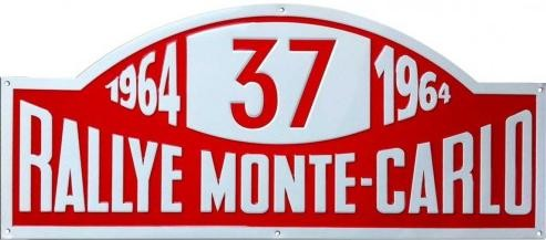 RALLYE MONTE-CARLO Plaque métal décorée