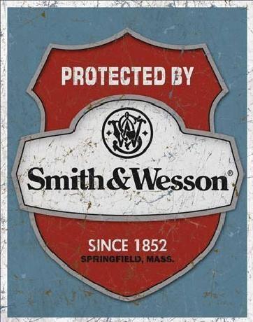 S&W - protected by Plaque métal décorée