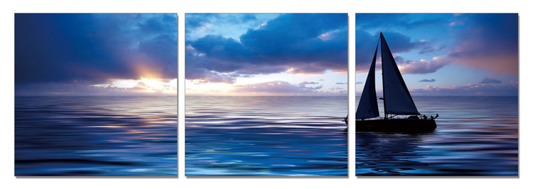 Sailing Boat - Life on the Sea Tableau Multi-Toiles