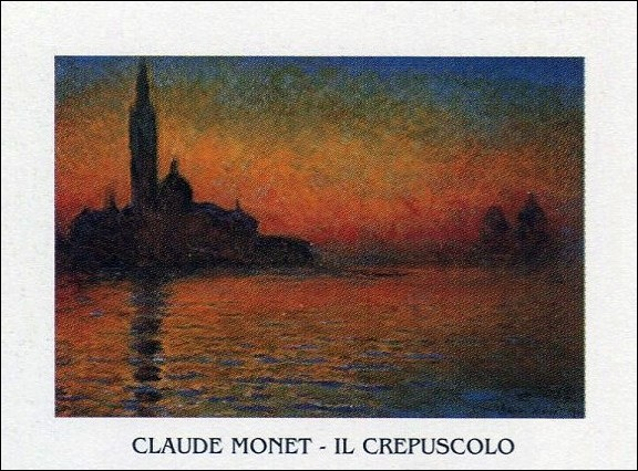 San Giorgio Maggiore at Dusk - Dusk in Venice (Sunset in Venice, Venice Twilight) Reproduction d'art