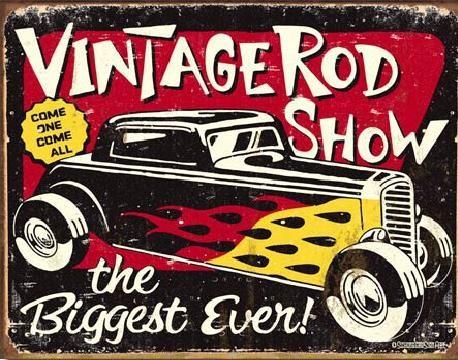 SCHOENBERG - Vintage Rodshow Plaque métal décorée