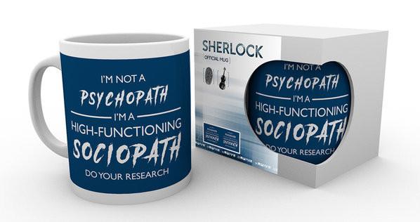 Mug Sherlock - I'm Not a Psychopath