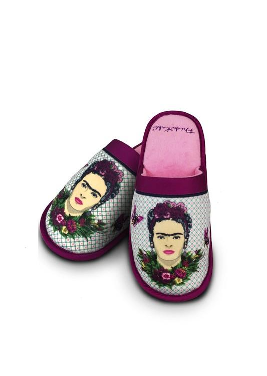 Slippers Frida Kahlo - Violet Bouquet
