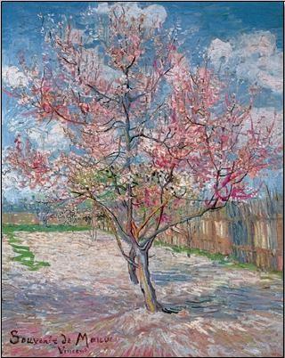 Souvenir de Mauve - Pink Peach Tree in Blossom, 1888 Reproduction d'art