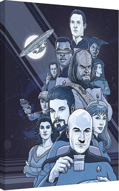 Star Trek: Next Generation Blue - 50th Anniversary Canvas Print