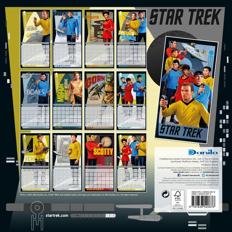 Calendario Star Trek 2021 Star Trek TV Series (Classic)   Wall Calendars   Large selection