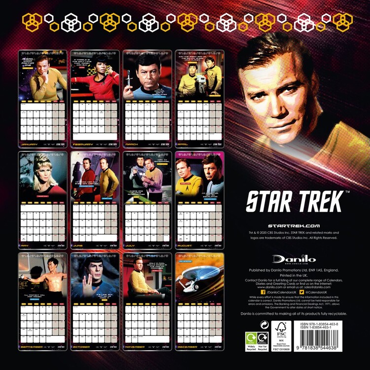 Calendar 2021 Star Trek - TV series - Classic