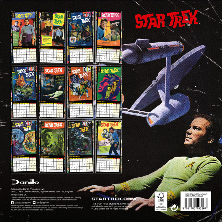 Calendario Star Trek 2021 Star Trek   TV Series   Wall Calendars   Large selection