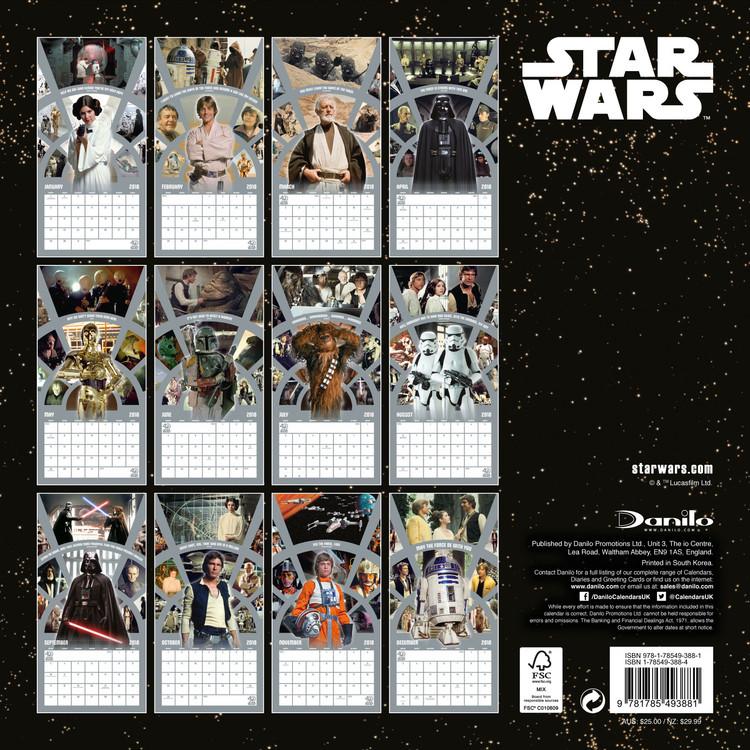 Calendario Star Wars 2021 Star Wars 40Th Anniversary   Wall Calendars | Large selection