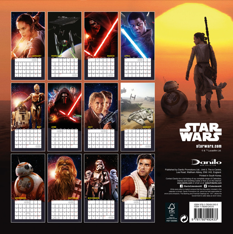 Star Wars: Episode 7   Wall Calendars | Large selection