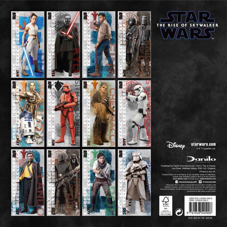 Star Wars Calendar 2022.Star Wars Episode 9 Wall Calendars 2022 Large Selection