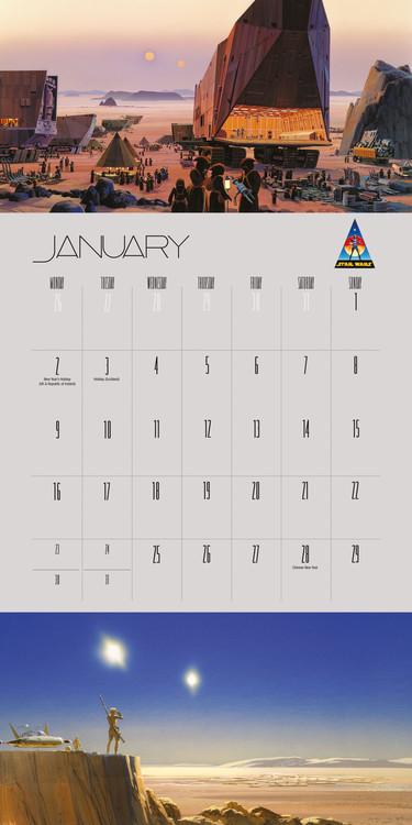 Star Wars Calendar 2022.Star Wars Wall Calendars 2022 Large Selection