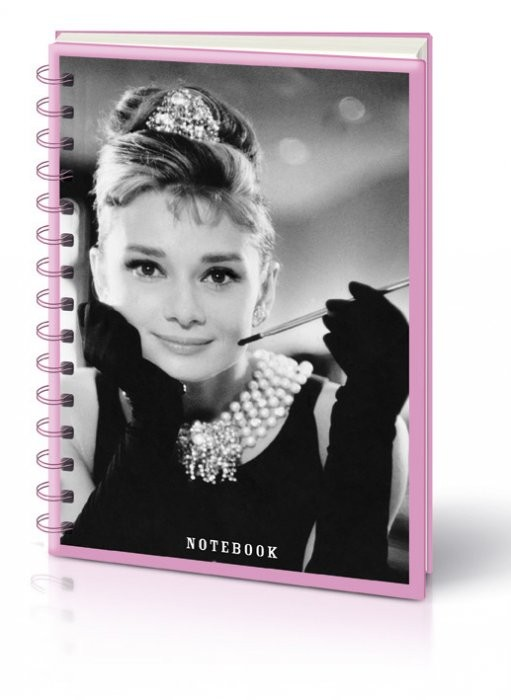AUDREY HEPBURN PHOTO - notebook A5 Stationery