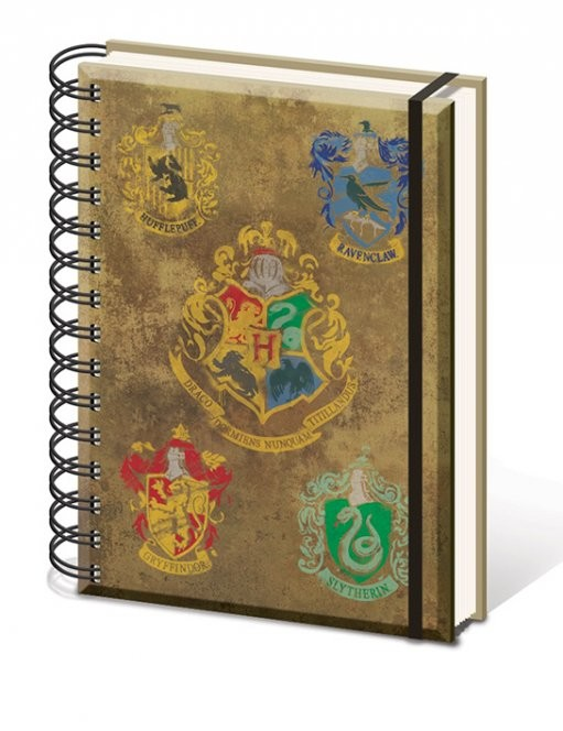 Harry Potter - Hogwart's Crests A5 notebook  Stationery
